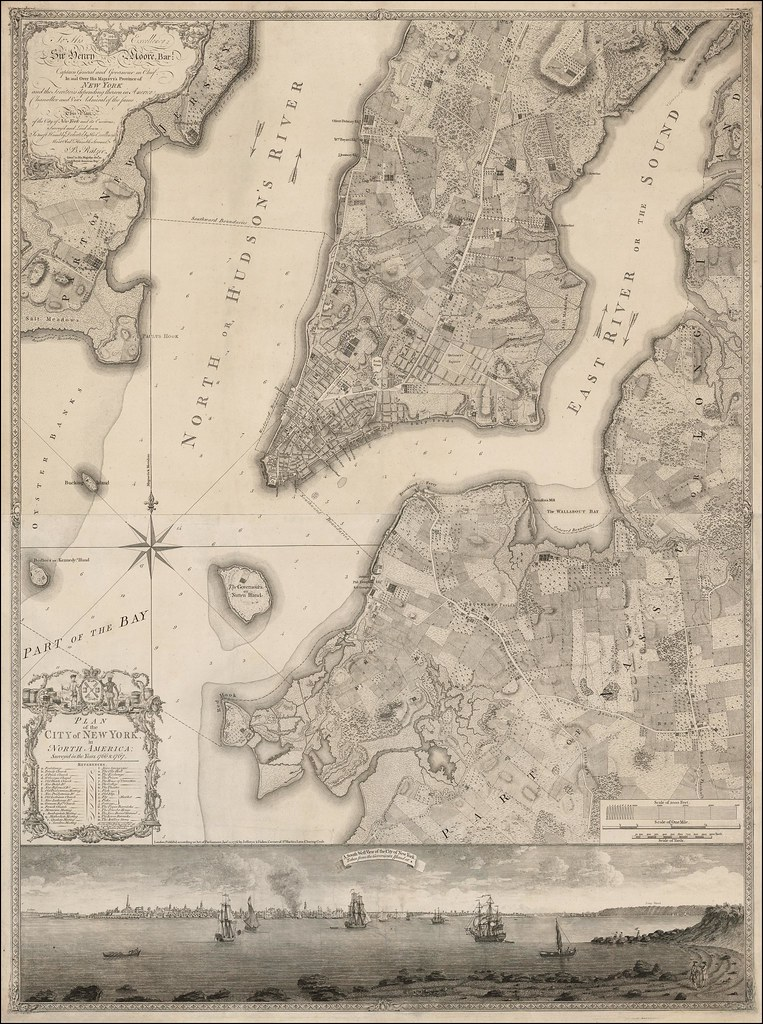 Map Of New York 1776.Plan Of The New York City 1776 Vivid Maps