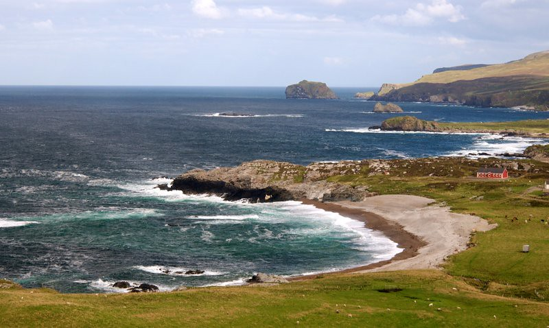 Location in the coast in Ireland