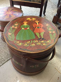 Pair of Ferkin painted boxes $125 | by Ellaway's Attic