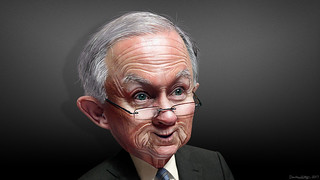 Jeff Sessions - Caricature | by DonkeyHotey