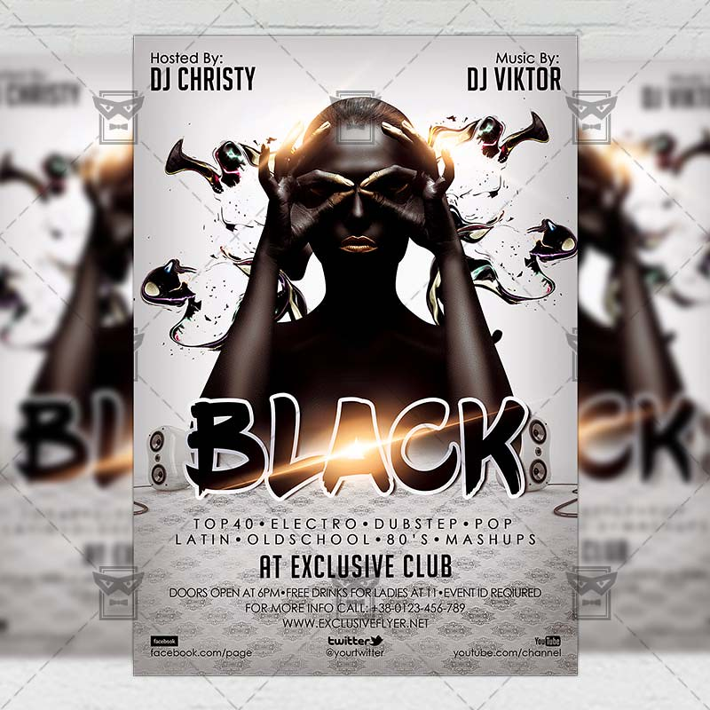 Black Night Club A5 Flyer Template The Black Night Is Th Flickr