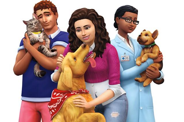 Logo, Render e Capa do The Sims 4 Gatos & Cães!