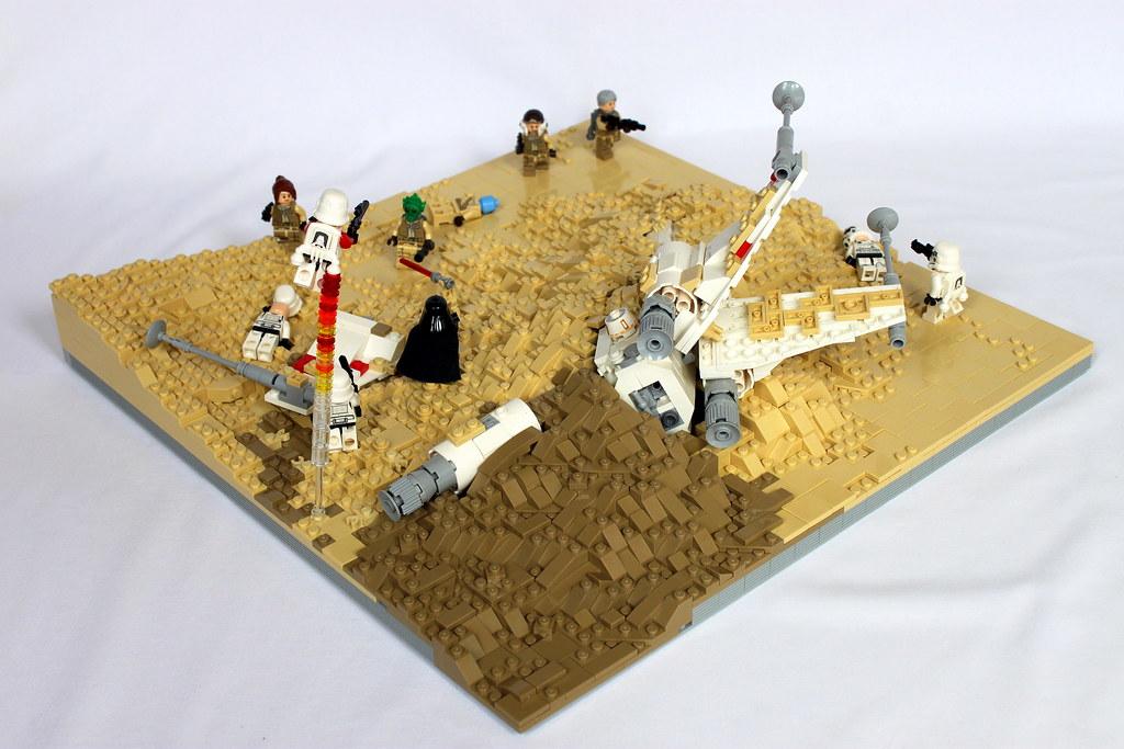 My latest Star Wars Battlefront MOC. Crashed X-Wing on Jak… | Flickr