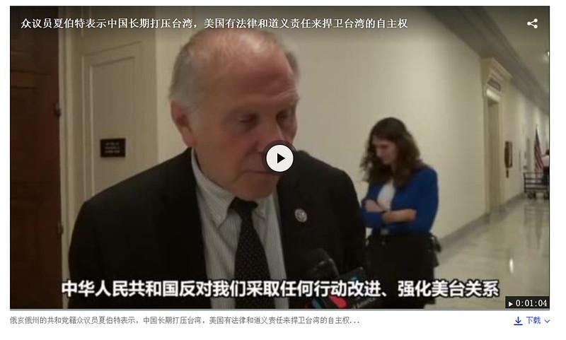 反對美國友台 中國踢到鐵板