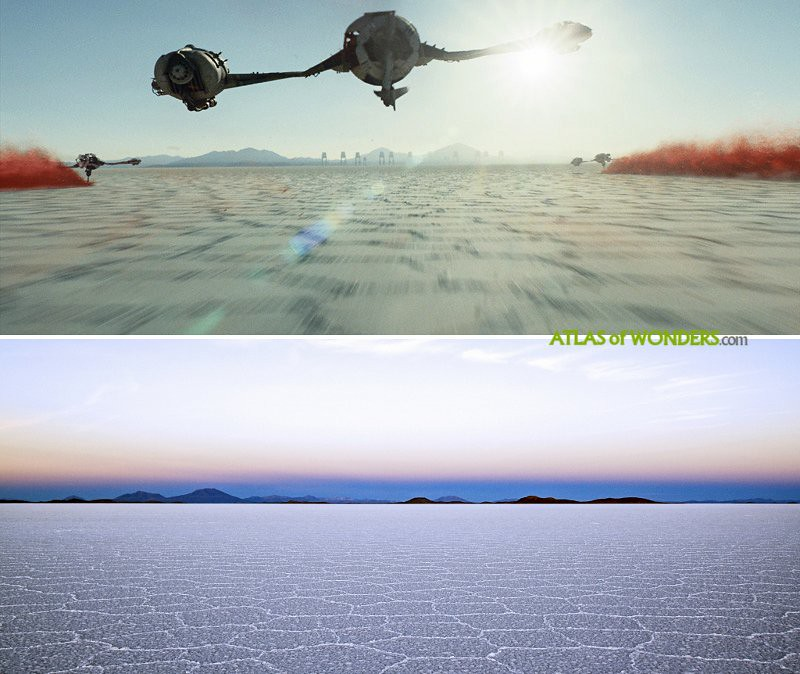 Planet Crait salt flat