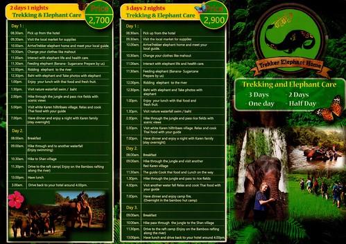 Trekker Elephant Home Chiang Mai Thailand Brochure 1