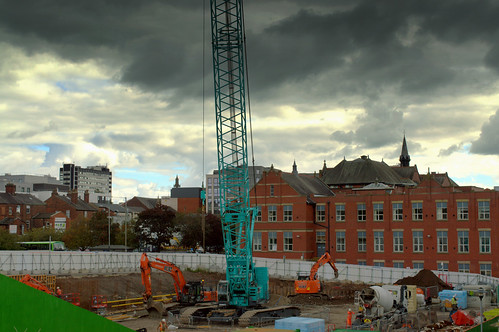 Construction site in Preston | by Tony Worrall