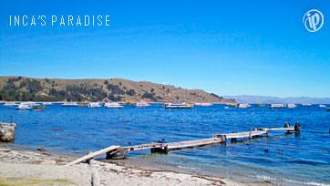 puerto en el Lago Titicaca
