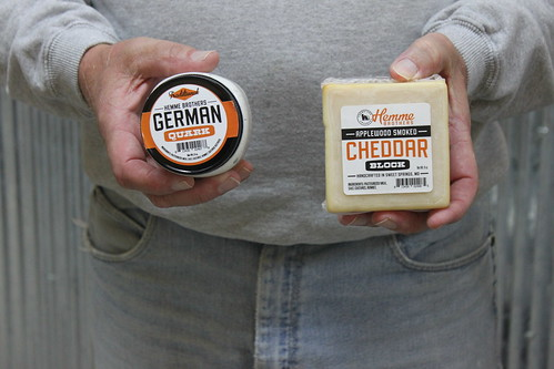 Quark and cheddar cheese