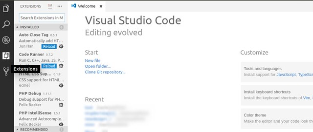 How to install visual studio code in Ubuntu for PHP development - extensions by Anil Labs