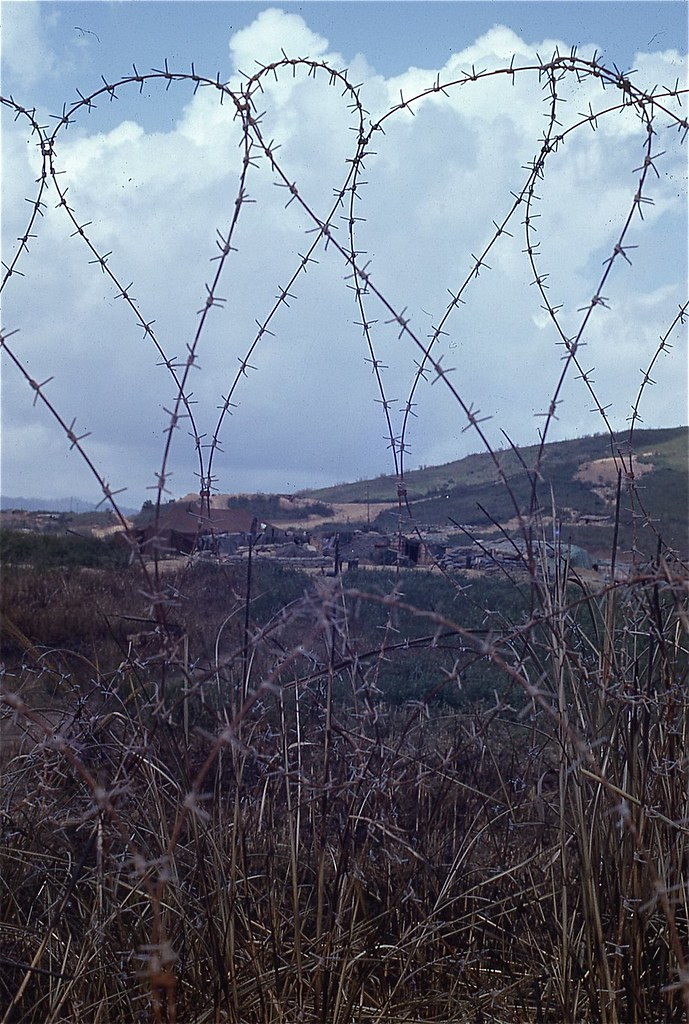 Concertina Wire at the Rockpile, 1968 | From the Robert L. D… | Flickr