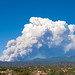 Plume from wildfires, such as this one in the Sangre de Cristo Mountains above Santa Fe, is a rich brew of chemicals and particles