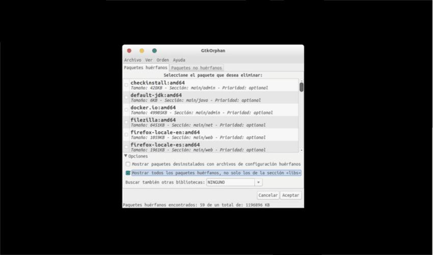 gtkorphan-listado-paquetes-importantes