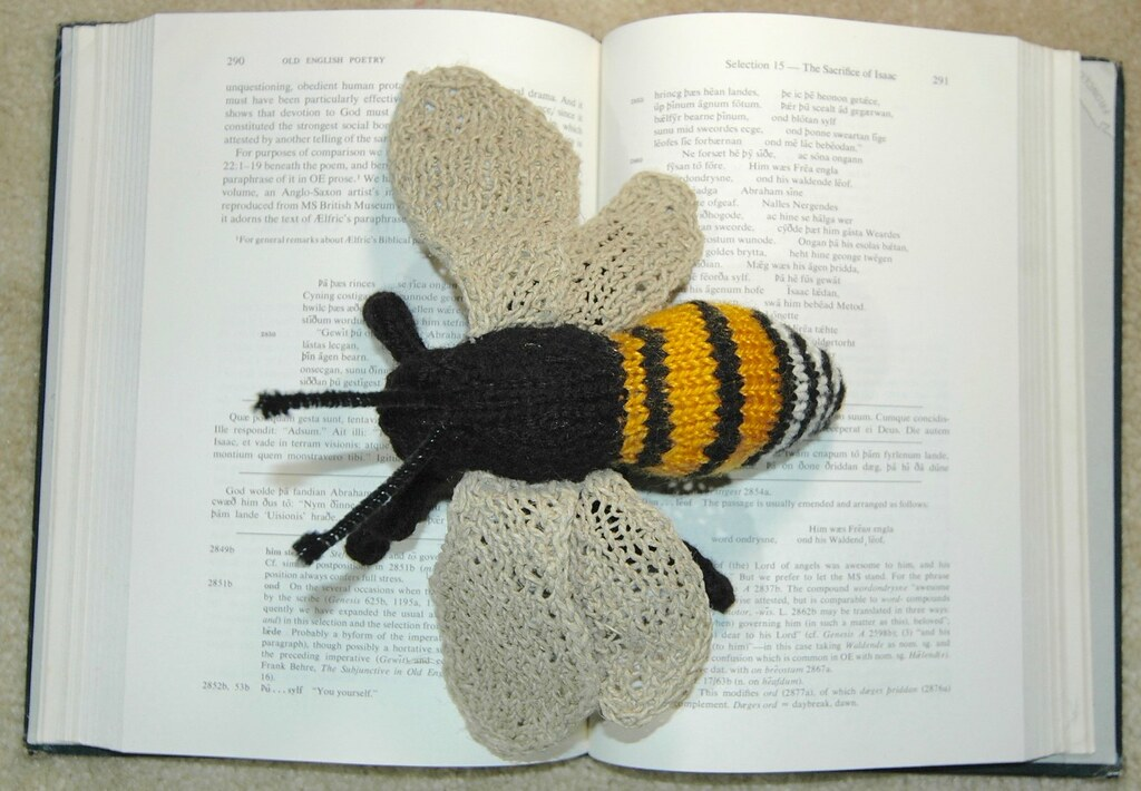 Knitted Honey Bee Pattern By Sara Elizabeth Kellner Normanack
