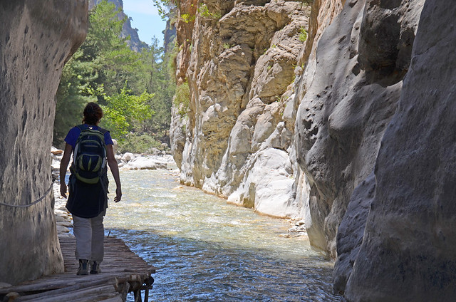 Walking, Samaria Gorge , Crete