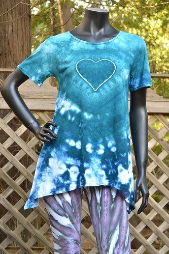 Kingfisher Crush tie dye short sleeve tunic (2) | by tiedupanddyed