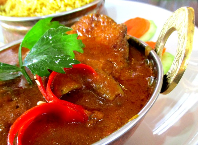 The Cafe IND Indian menu, fish curry