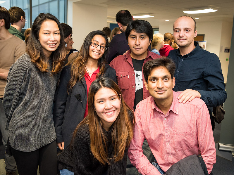 A group of doctoral students at the Welcome Reception