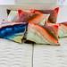 Multicolored Pillows Bright Vibrant Orange Blue White Mattress Pure Bedroom Decoration