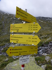 Wegweiser im Windbachtal