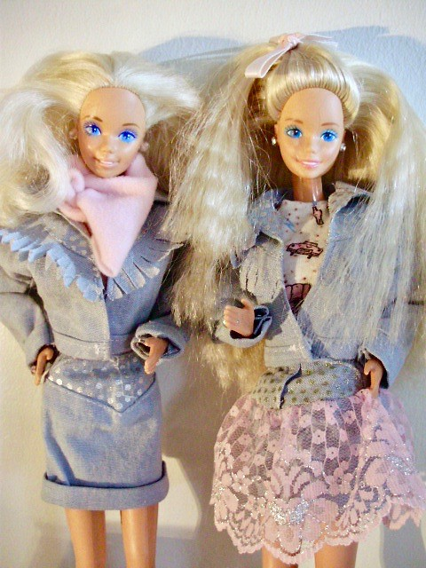 dream dance barbie 1989 wearing feeling fun fashion and feeling fun barbie 1988 by silky - Barbie Fe