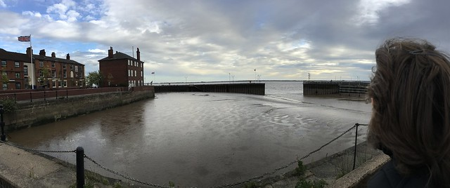 View across mud to the Humber estuary
