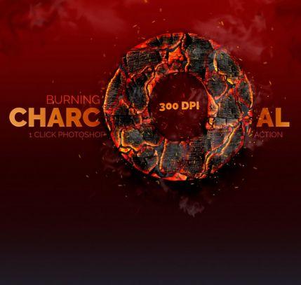 Burning Charcoal