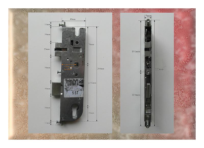 Maco Cts Pz92 Split Spindle Lock Case Gearbox Mechanism