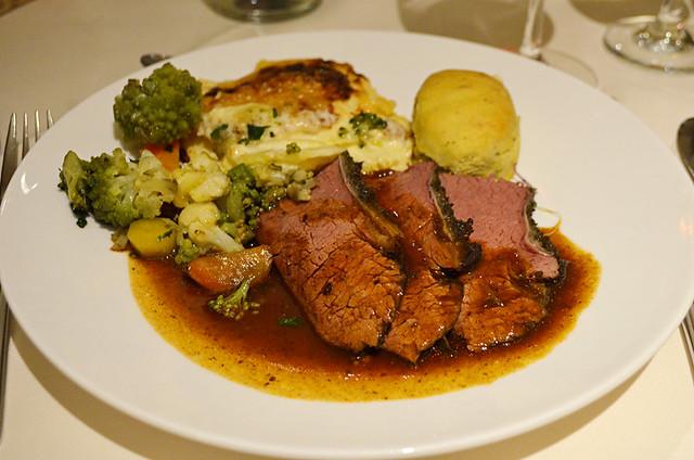 Hearty Bavarian meal