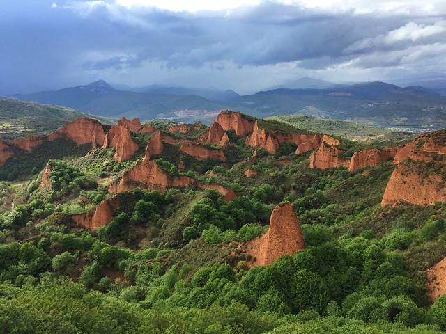 Paisaje de Las Médulas desde el Mirador de Orellán (El Bierzo, León)