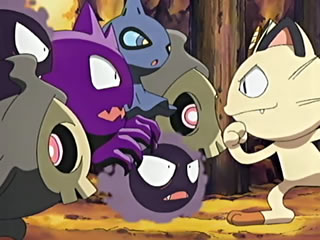 meowth and ghosts