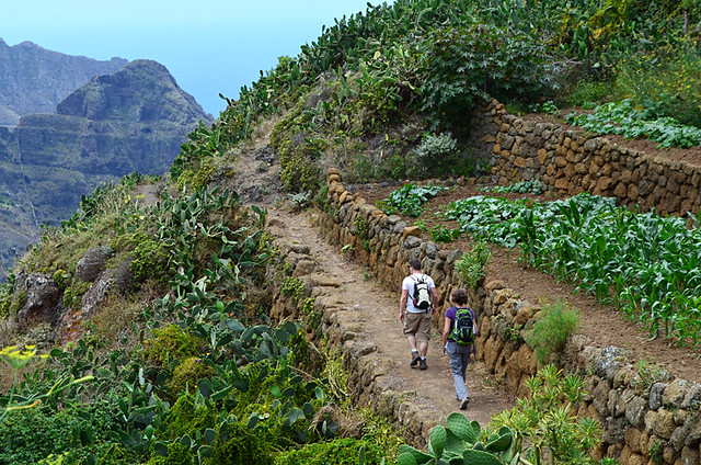 Narrow path, Anaga, Tenerife
