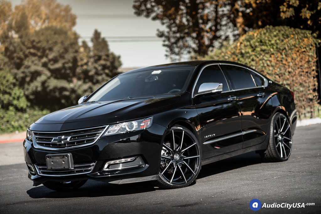 "2017 Chevy Impala V6 on 22"" Lexani Wheels Gravity Gloss Bl ..."
