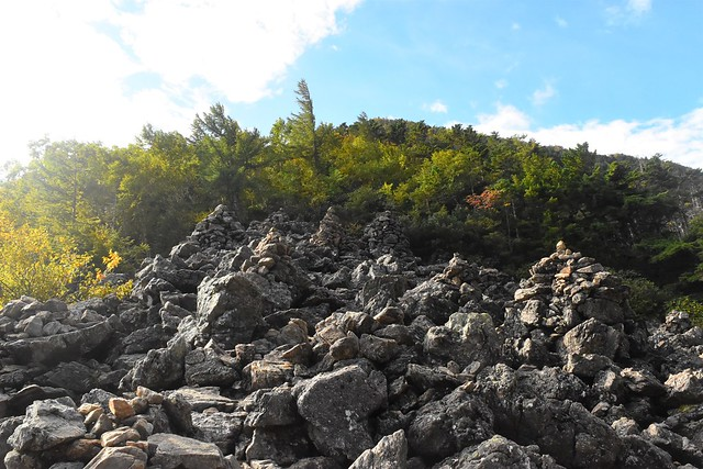 栗沢山への登山道