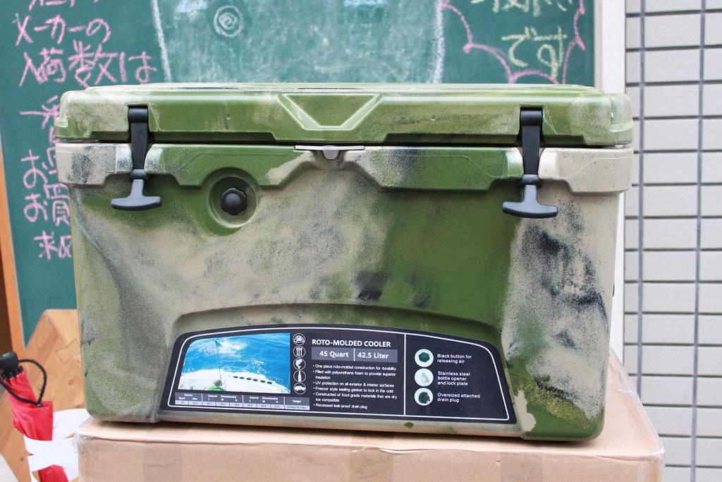 アイスランドクーラーボックスーIcelandCoolerBox45QTグリーンカモセット