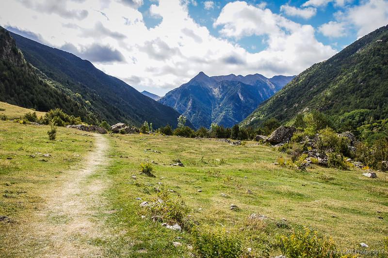 Regresando a la Palanca de la Molina desde la Pleta del Pago