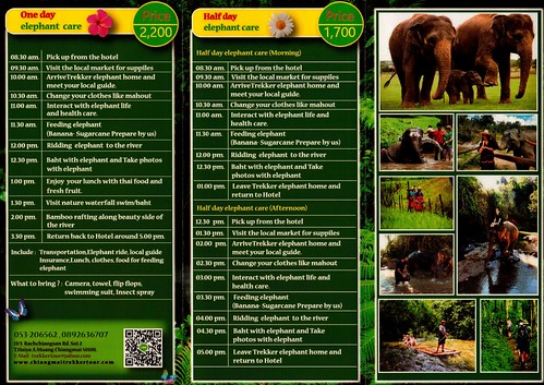 Trekker Elephant Home Chiang Mai Thailand Brochure 2
