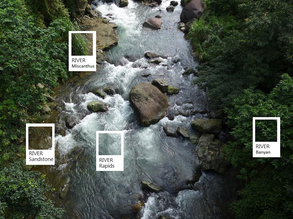 8(首圖)_溪流色票,紀錄環境在每個時空片段裡的身影。(圖片來源:人禾)