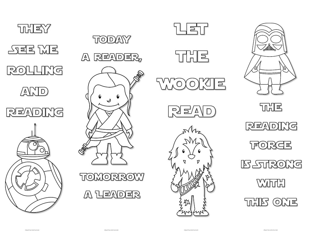 star wars colouring bookmarks - set 1 | print these cute sta… | flickr