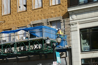 Stone facade installation William Thomas Residences James St. N. | by .JCM.