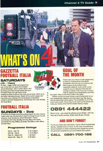 Football Italia Analogue Boy In A Digital World