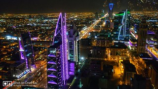 Capital of Riyadh - Night View from Al Faisaliah Tower | by Haseeb Sohail | Photography