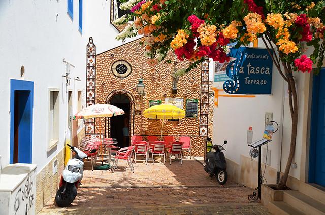 Narrow streets, Albufeira Old Town, Algarve
