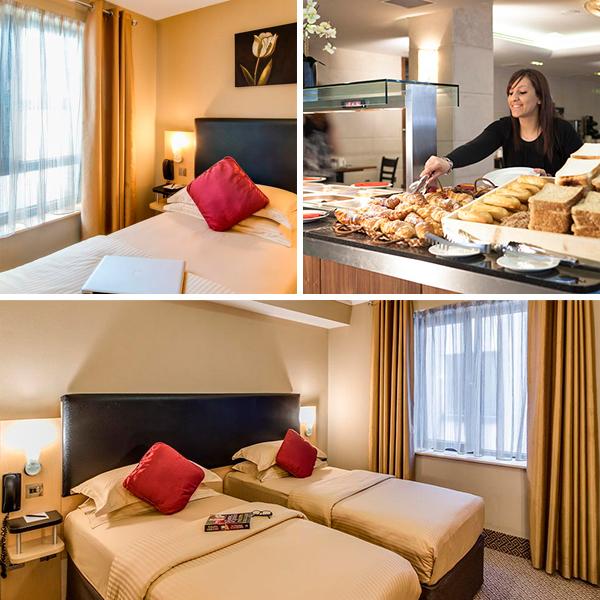 Precioso hotel beige en Dublín donde dormir barato