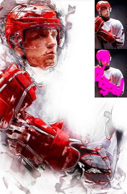 ModernArt Photoshop action 1 – contemporary art for beginners
