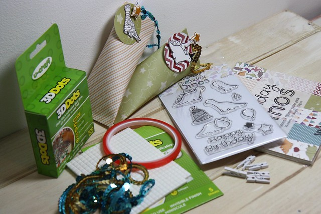 How to make Halloween treat bags using the Birthday Dinos range - you will need