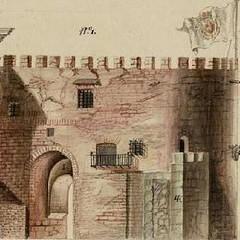 La puerta de Batbazachar y muralla.