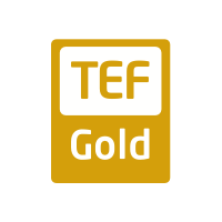 A gold Teaching Excellence Framework logo