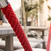 Red Rope Closeup Texture Exclusive Elegant Entrance Outdoors