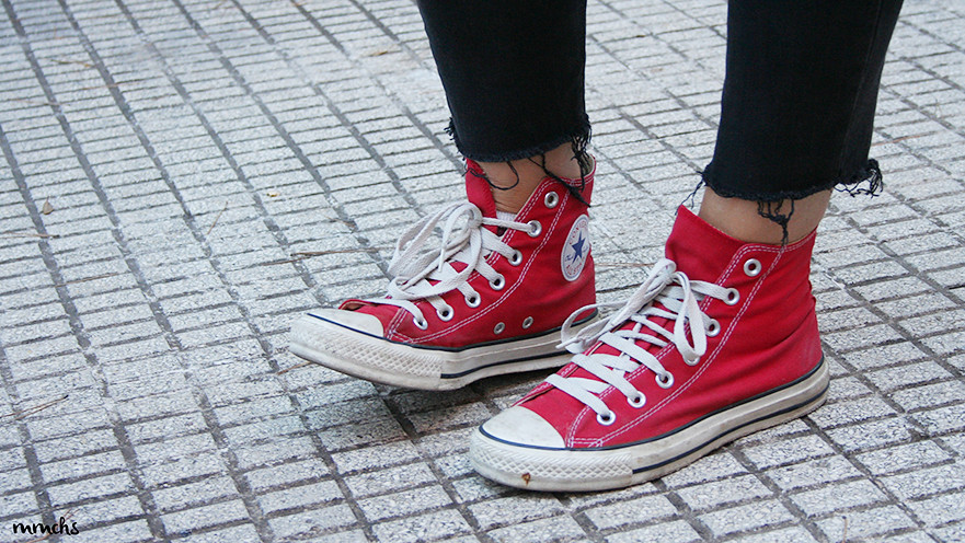 Converse All Star rojas mujer